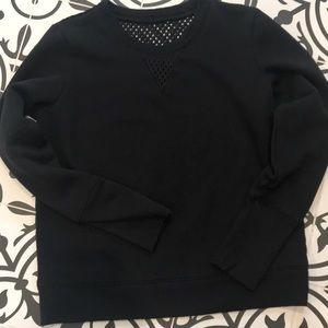 Alo black sweatshirt with mesh detail Size S